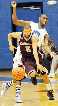 """<div class=""""source"""">CU Sports Information</div><div class=""""image-desc"""">Darius Clements  was one of five double-figure scorers for the Campbellsville University men, but Lindsey Wilson held off the Tigers' late charge to prevail 82-77. The Campbellsville teams played at Cumberland (Tenn.) University over the weekend.</div><div class=""""buy-pic""""></div>"""