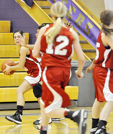 "<div class=""source"">Bobby Brockman</div><div class=""image-desc"">Haley Wright hit nine of her first 10 free throws to finish with 18 points in the Taylor County Lady Cardinal 60-40 triumph at Bardstown on Saturday. </div><div class=""buy-pic""><a href=""/photo_select/49834"">Buy this photo</a></div>"