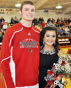 """<div class=""""source"""">Bobby Brockman</div><div class=""""image-desc"""">Taylor County High School crowned junior Caleb Wigginton and senior Jennifer Nguyen as its Basketball Homecoming King and Queen on Friday night. The first runners-up were Will Hollingsworth and Kori Richerson while Colton Harris and Shalyn Thompson were second runners-up.</div><div class=""""buy-pic""""><a href=""""/photo_select/42367"""">Buy this photo</a></div>"""