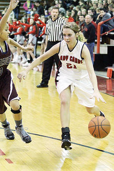 "<div class=""source"">Dennis George</div><div class=""image-desc"">Becca Orberson goes against the Lady Knights in the Lady Cardinals' loss in Friday's opener.</div><div class=""buy-pic""><a href=""/photo_select/49832"">Buy this photo</a></div>"