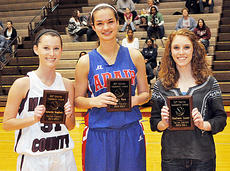 "<div class=""source"">Bobby Brockman</div><div class=""image-desc"">The Boys' All-20th District Academic team, left, consisted of Adair County's Matt Fudge, The Girls' All-20th District Academic squad was Marion County's Samantha Daugherty, Emily Peck from Adair County, Taylor County's Madison Lauer and Caroline McMahan, Campbellsville (absent from photo).</div><div class=""buy-pic""><a href=""http://web2.lcni5.com/cgi-bin/c2newbuyphoto.cgi?pub=085&orig=03-06_girlsacademic.jpg"" target=""_new"">Buy this photo</a></div>"