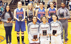 "<div class=""source"">Bobby Brockman</div><div class=""image-desc"">The Girls' All-20th District Seasonal team, is from left, front: Marion County's Alexus Calhoun, Haeli Howard and Ambrasia Adams. Back: Haley Wright of Taylor County, Adair County's Harlee Smock, Rachel Shoemaker from Taylor County, Beth Owens and Alex Keltner of Adair County and Campbellsville's Nena Barnett.</div><div class=""buy-pic""><a href=""/photo_select/50493"">Buy this photo</a></div>"
