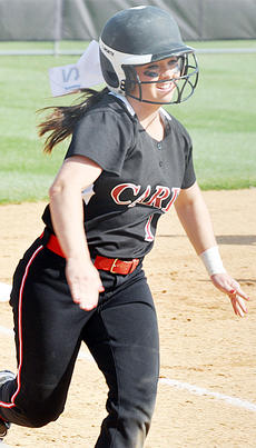 "<div class=""source"">Bobby Brockman</div><div class=""image-desc"">Cheyenne Moran scores one of Taylor County's runs in the Lady Cardinals' 6-0 district triumph over Campbellsville.</div><div class=""buy-pic""><a href=""/photo_select/52102"">Buy this photo</a></div>"