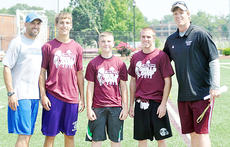 "<div class=""source"">Chris Megginson</div><div class=""image-desc"">Former University of Louisville quarterbacks Hunter Cantwell, right, and Stefan LeFors, left,  instructed 16 young quarterbacks at Campbellsville University on June 8 at Hunter Cantwell QB/WR Skills Camp. Pictured with LeFors and Cantwell are the winners of the skills obstacles: quarterback Zach Durham of Campbellsville, quarterback Steven Benock of Stuart Pepper Middle School (Brandenburg) and wide receiver Jonathan Scaringe of Chiles High Tallahassee, Fla.)</div><div class=""buy-pic""></div>"