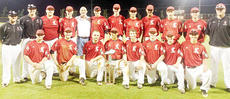 """<div class=""""source""""></div><div class=""""image-desc"""">American Legion Post 82's district championship team is, from left, front: Cody Houk, Will Hollingsworth, Gabe Hogan, Zach Ditto, Zach Bale, Colton Bush, Luke McCamish and Don Dabney. Back: head coach Blake Milby, assistant Adam Blair, Jordan Hinton, Chase Thomas, Post 82 Commander Phil Davis, Dustin Kindervater, Justin Hazel, Troy Squires, Javy Echevarria, Alex Crowder, Cannon Pender and assistant Bryce White.</div><div class=""""buy-pic""""></div>"""