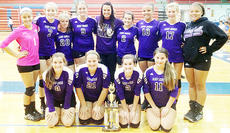 """<div class=""""source""""></div><div class=""""image-desc"""">Campbellsville High School's junior varsity Lady Eagles' volleyball squad finished second to Central Hardin in the Nelson County Tournament silver bracket division on Sept. 14. They are, from left, front: Haley Williams, Brenna Wethington, Casey Sallee and Alyssa McCarthy. Back: Breanna Spaulding, Caroline McMahan, Kaitlyn Ice, Kati VanOrder, coach Amber Delk, Emily Squires, Diamond Thompson, Halie Bloyd, and Deovion Owens.</div><div class=""""buy-pic""""></div>"""