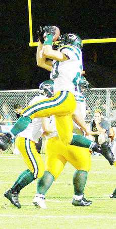 "<div class=""source"">Jesse Carter</div><div class=""image-desc"">Evan Jaggers (20) makes another huge play in Green County's 43-0 blow-out victory at Campbellsville on Friday night in the Cow Bowl on Dave Fryrear Field. Jaggers and fellow Dragon senior Weston McDermott had three touchdowns and a conversion apiece as coach Chris Engstand's team improved to 3-2 on the season. Green County plays at Danville this week. The Admirals (1-3 with losses to Mercer County, Boyle County and Corbin) will be Campbellsville's next home foe after the Eagles (0-4) visit Bethlehem this Friday.</div><div class=""buy-pic""></div>"