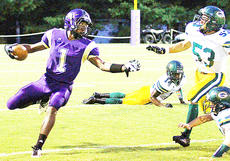 "<div class=""source"">Jesse Carter</div><div class=""image-desc"">Kendon Young tries to get to the outside against Green County's Jeron Thornton (53) in Campbellsville's 43-0 home loss to the Dragons on Friday night. CHS visits Bethlehem this week before hosting Danville on Oct. 4.</div><div class=""buy-pic""></div>"