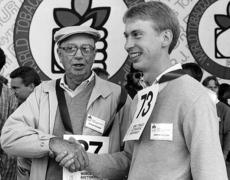 "<div class=""source"">Submitted</div><div class=""image-desc"">Wayne Kessler congratulates his son, John, after one of their auction performances at the World Tobacco Celebration in 1986, when both were finalists.</div><div class=""buy-pic""><a href=""/photo_select/66213"">Buy this photo</a></div>"