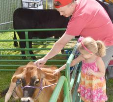 """<div class=""""source"""">Calen McKinney</div><div class=""""image-desc"""">Lauren Woods, 5, of Campbellsville, pets a cow with her father, Andy, at the petting zoo.</div><div class=""""buy-pic""""><a href=""""http://web2.lcni5.com/cgi-bin/c2newbuyphoto.cgi?pub=085&orig=4-H%2BCow%2BPetting%2BZoo%2B2.jpg"""" target=""""_new"""">Buy this photo</a></div>"""