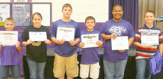 "<div class=""source""></div><div class=""image-desc"">Sixth-grade academic awards went to Casey Hardin, social studies; Elizabeth Sullivan, science; Lane Bottoms, math; Ryan Kearney, advanced math; Jeremiah Jackson, language arts; and Myles Murrell, accelerated reader.</div><div class=""buy-pic""></div>"