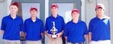 """<div class=""""source""""></div><div class=""""image-desc"""">Adair County's boys' team, which finished in a tie for the Heartland Athletic Conference golf title, is, from left: Daniel Rarey, Korey Hundley, Trey Garmon, Alex Durham and Riley Grant.</div><div class=""""buy-pic""""></div>"""