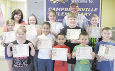 "<div class=""source""></div><div class=""image-desc"">Campbellsville Elementary School winners are, front, from left, art winners Layla Steen, Laci Hodgens, Diego Noyola, Leo Lamer, classroom winners; and Jovi Bowen, second place in school and classroom winner. Middle, Carly Adams, Makayla Thompson, Chloe Newton, Blake Settle, Seth Ford, classroom winners. Back, teacher Garnetta Murrell; Barry Smith, Taylor County Conservation District supervisor.</div><div class=""buy-pic""></div>"