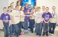 """<div class=""""source""""></div><div class=""""image-desc"""">Campbellsville Elementary School Academic Team placed first runner-up at the 53rd District Governor's Cup Competition on Feb. 26. From left are members Peyton Reynolds, Cass Kidwell, Madison Dial, Ryan Wiedewitsch, Assistant Coach Tonya Hagan, Sara Farmer, Coach Debbie Edwards, Tanner Parks, Bryce Richardson, Tayler Judd, Alex Doss, Tristan Johnson, Myles Murrell and Cooper Parks.</div><div class=""""buy-pic""""></div>"""