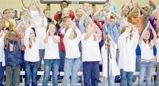 """<div class=""""source""""></div><div class=""""image-desc"""">Campbellsville Elementary School third-grade students presented """"Science Rocks,"""" with songs about the classes of rocks, the food chain and the life of a tree. Cyndi Chadwick directed the program. Third-grade teachers are Debbie Baugh, Patty Haley, Lynne Horn and Marcia Sharp.</div><div class=""""buy-pic""""></div>"""