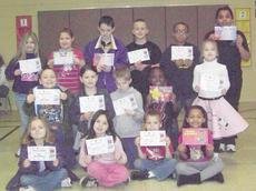 """<div class=""""source""""></div><div class=""""image-desc"""">Campbellsville Elementary School recently announced its Students of the Week. From left, front, are Adrianna Sluder, Paula Hoskins, Tuff Harper and Alexis Thomas. Middle: Braydon Phillips, Zoie Sidebottom, Jordan Sallee, Jamiaya Hatcher and Savannah Gumm. Back: Isabella Vannice, Abie Angel, Samuel Cox, Josh Mahan, Lathan Cubit and Malaya Hoskins.</div><div class=""""buy-pic""""></div>"""