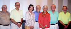 """<div class=""""source""""></div><div class=""""image-desc"""">Attending were, from left, Bill Bishoff of Florence, Miss., George Morris and Frances Faulkner of Campbellsville, Jim Secrest of Scottsville, Phyllis Underwood of Maysville, Don Wilkerson of Horn Lake, Miss., and Charlie McKinley of Campbellsville. </div><div class=""""buy-pic""""></div>"""