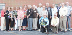 """<div class=""""source""""></div><div class=""""image-desc"""">Campbellsville High School Class of 1957 met for a reunion on Sept. 1 at Campbellsville Baptist Church. Front, from left, are Jim Campbell and Charlie Richardson. Back, Patty Beard Gibson, Frances Coppock Brazier, Ermine Phillips Jenkins, Louise Bryant Croslin, Linda Newcomb Scheynost, Carolyn Allen Lasko, Joyce Herron Hartman, Rebecca Lewis Patterson, Richard Harrison, Paul Rogers, Howard Hatcher, Perry Hogue, Donald Dabney, Randy Herron and Travis Thomas. </div><div class=""""buy-pic""""></div>"""