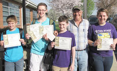 "<div class=""source""></div><div class=""image-desc"">Campbellsville Middle School winners are, from left, writing winners Alex Doss, classroom winner; Samuel Kessler, county winner, first place in school and classroom winner; Bryce Richardson, classroom winner; Barry Smith, Taylor County Conservation District supervisor; and Rebekah Cowherd, classroom winner.</div><div class=""buy-pic""></div>"