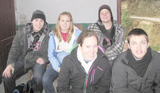 """<div class=""""source"""">Campbellsville University</div><div class=""""image-desc"""">Campbellsville University mission group members who returned recently from East Asia are from left, front, Sarah Scott of Louisville and Andrew Neal of Harrodsburg. Back, Trevor McWhorter of Campbellsville, Rebekah Carl of Houston, Texas and Devan Bishop of Columbia. </div><div class=""""buy-pic""""></div>"""