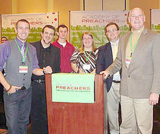 """<div class=""""source""""></div><div class=""""image-desc"""">Five Campbellsville University students, one of whom is from Campbellsville, recently attended the Academy of Preachers Festival of Young Preachers in January. Natashia Roy, third from right, will have a sermon she gave published. Other students attending were, from left, Aron Neal, a junior of Cincinnati, Ohio; Mitchell Monroe, a sophomore from Morganfield; Noah Blackburn, a junior from Jeffersonville; Roy; Jonathan McCoy, a senior from Campbellsville; and Dr. Scott Wigginton, associate professor of pastoral ministries and counseling.</div><div class=""""buy-pic""""></div>"""