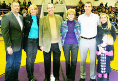 "<div class=""source"">Dennis George</div><div class=""image-desc"">Carol Gossage was officially named as Campbellsville High School's inductee for the Fifth Region Athletic Directors Hall of Fame at Friday night's Campbellsville-Marion County game. Joining her at the pre-game ceremony are her husband, Ron, her son-in-law and daughter Brian and Cindy Brinkmoeller and her son, daughter-in-law and granddaughter Brian, Debbie and Riley Gossage.</div><div class=""buy-pic""><a href=""/photo_select/27174"">Buy this photo</a></div>"