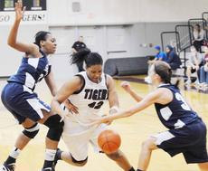 """<div class=""""source"""">Richard RoBards</div><div class=""""image-desc"""">Chelsea Craig slices through the Shawnee State defense in the Lady Tigers' home setback.</div><div class=""""buy-pic""""></div>"""