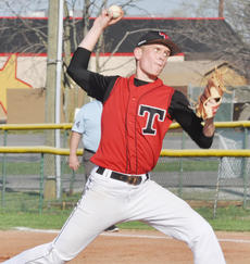"""<div class=""""source"""">Bobby Brockman</div><div class=""""image-desc"""">Justin Hazel struck out eight and allowed only two hits as the Cardinals bested the Eagles 12-0.</div><div class=""""buy-pic""""><a href=""""/photo_select/43810"""">Buy this photo</a></div>"""