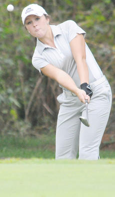 """<div class=""""source"""">Richard RoBards</div><div class=""""image-desc"""">Campbellsville University's MeLeigha Pollock finished fifth at the Centre College Spring Invitational after shooting a seven-over par 79 in the tournament's only round.</div><div class=""""buy-pic""""></div>"""
