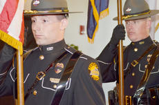 "<div class=""source"">Calen McKinney</div><div class=""image-desc"">Kentucky State Police honor guard members present the colors.</div><div class=""buy-pic""><a href=""/photo_select/44487"">Buy this photo</a></div>"