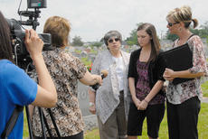 """<div class=""""source"""">Calen McKinney</div><div class=""""image-desc"""">From left, Johnny Edrington's sister, Barbara Curtis; his daughter, Johnna Callie Edrington and his widow, Diane Chandler, talk about the service with media. Callie, who was speaking to media for the first time, said she enjoys going to the annual service to learn more about her father, whom she never met.</div><div class=""""buy-pic""""><a href=""""/photo_select/37724"""">Buy this photo</a></div>"""