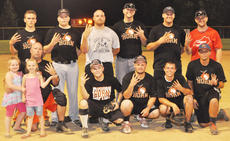 "<div class=""source"">Bobby Brockman</div><div class=""image-desc"">Elk Horn Baptist defeated Summersville Baptist 20-15 to win the Men's Church A Softball Tournament title on Monday at Veterans Memorial Park. They are, from left, front: Jamie Browning (with daughters Adrian and Brianna), Tyler Finn, Andrew Brockman, Corey Helm and Jeremy Helm.  Back: Matthew Hazel, Wes Campbell, Marcus Rucker, Matt Payton, John Houk and Todd Polston. Absent from the photo were: Aaron Anderson, Mike Baker, Michael Caleb, Kevin Young and Cody Finn.</div><div class=""buy-pic""><a href=""/photo_select/39589"">Buy this photo</a></div>"
