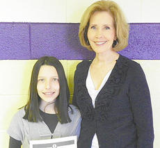 """<div class=""""source""""></div><div class=""""image-desc"""">Elizabeth Rogers is the winner from Taylor County Schools. She is pictured with the subject of her essay, her grandmother Diane Rogers. Her essay was chosen to represent the district at the state contest.</div><div class=""""buy-pic""""></div>"""