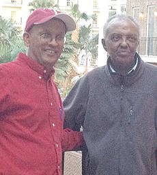 """<div class=""""source"""">Submitted</div><div class=""""image-desc"""">Dr. Zewdu Lissanu, medical oncologist at Taylor Regional Hospital, at left, recently spearheaded an effort to get treatment for Alem Bazezew Legesse, who had been diagnosed with cancer. Legesse, who lives in Ethiopia, would likely have not received treatment had he stayed in his home country. Legesse is now cancer free and doctors and staff treated him for free.</div><div class=""""buy-pic""""></div>"""