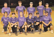 "<div class=""source"">Bobby Brockman</div><div class=""image-desc"">First Cumberland Presbyterian came from behind to edge Vineyard 12-10 for the Men's Church B Softball Tournament championship on Monday at Veterans Memorial Park. They are, from left, front: Tyler Dudgeon, Anthony Wilhoit, Zach Bertram, Jacob Wise, James Clements and Christian Cowherd. Back: coach Tom Clark, Matthew Perkins, Seth Wheatley, Taylor Wisdom and Matt Dudgeon. Absent from the photo was Aaron Gilpin.</div><div class=""buy-pic""><a href=""/photo_select/39590"">Buy this photo</a></div>"