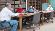 "<div class=""source"">Calen McKinney</div><div class=""image-desc"">From left, Magistrates Ed Gorin, John Gaines, James Jones, Matt Pendleton, Milford Lowe and Richard Phillips discuss ways to balance the County's budget.</div><div class=""buy-pic""><a href=""/photo_select/8673"">Buy this photo</a></div>"