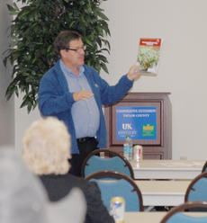 """<div class=""""source"""">Calen McKinney</div><div class=""""image-desc"""">Dr. Rick Durham, a horticulture specialist with the University of Kentucky, presented a gardening class at the Taylor County Extension Office on Tuesday, April 24.</div><div class=""""buy-pic""""><a href=""""http://web2.lcni5.com/cgi-bin/c2newbuyphoto.cgi?pub=085&orig=Gardening%2BClass%2B3.jpg"""" target=""""_new"""">Buy this photo</a></div>"""