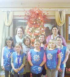 """<div class=""""source""""></div><div class=""""image-desc"""">Pictured in front are, from left, Abby Farmer, Molly Bush, Cloe McFarland, Kaylee McFarland, Savannah Delk, McKenzie Dixon, Ava Wooley. In back are troop leaders Deanna Barnes and Missy Dixon.</div><div class=""""buy-pic""""></div>"""