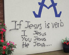 "<div class=""source""></div><div class=""image-desc"">Campbellsville Police Department investigated graffiti found at two local churches and two local businesses on Monday and have arrested and charged a local man with committing the crimes. </div><div class=""buy-pic""></div>"