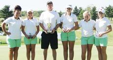 """<div class=""""source""""></div><div class=""""image-desc"""">Green County won its fourth straight girls' Heartland Athletic Conference Golf Championship on Tuesday in Springfield. They are, from left: Sydney Agee, Cassidy Scantland, coach Ricky Davis, Olivia Parrott, Gracie Ann Parrott and Leah Rose Judd.</div><div class=""""buy-pic""""></div>"""