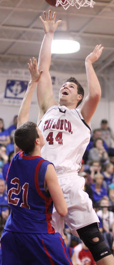 """<div class=""""source"""">Dennis George</div><div class=""""image-desc"""">Lucas Bradshaw tallies in the paint for the Cardinals.</div><div class=""""buy-pic""""><a href=""""/photo_select/35864"""">Buy this photo</a></div>"""