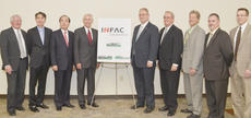 """<div class=""""source"""">Calen McKinney</div><div class=""""image-desc"""">Officials gather for a photo after it is announced that INFAC will invest $6.5 million into a new building and bring 20 new full-time jobs to Campbellsville. From left are Taylor County Judge/Executive Eddie Rogers, INFAC Chief Operating Officer Jay Choi, INFAC Chief Executive Officer Ohe Gil Choi, Kentucky Gov. Steve Beshear, State Sen. Jimmy Higdon, R-Lebanon, Campbellsville Mayor Tony Young, Campbellsville/Taylor County Economic Development Authority Chairman Mark Johnson, State Rep. John """"Bam"""" Carney, R-Campbellsville, and EDA Executive Director Ron McMahan.</div><div class=""""buy-pic""""><a href=""""/photo_select/41335"""">Buy this photo</a></div>"""