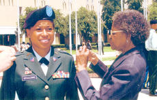 """<div class=""""source""""></div><div class=""""image-desc"""">Margaret Gaddie of Greensburg traveled to Fort Benning, Ga. to be a part of the commissioning ceremony in which she pinned her granddaughter, Second Lt. Keisha Spaulding.</div><div class=""""buy-pic""""><a href=""""/photo_select/15881"""">Buy this photo</a></div>"""
