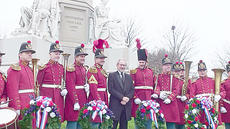 """<div class=""""source"""">Submitted</div><div class=""""image-desc"""">Dr. Reese Land, fourth from left, associate professor of music/trumpet at Campbellsville University, is in the new Steven Spielberg film """"Lincoln."""" He met Spielberg at the 149th anniversary of Lincoln's Gettysburg address at Gettysburg, Penn. on Nov. 19. """"Lincoln"""" begins playing at Green River Cinema 6 on Friday.</div><div class=""""buy-pic""""></div>"""