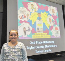 """<div class=""""source""""></div><div class=""""image-desc"""">Bella Long, a third-grade student at Taylor County Elementary School, recently won second place in the state's Dr. Martin Luther King Jr. Moving Beyond the Dream visual arts contest. Long was chosen from more than 1,000 entries. She took part in a celebration Jan. 17 at the Kentucky Historical Society's Thomas D. Clark Center for Kentucky History.</div><div class=""""buy-pic""""></div>"""