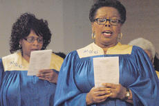 "<div class=""source"">Calen McKinney</div><div class=""image-desc"">Pleasant Union Baptist Church Choir members Imogina Smith, left, and Flossie Rowe sing during Sunday's annual Dr. Martin Luther King Jr. memorial worship service.</div><div class=""buy-pic""><a href=""http://web2.lcni5.com/cgi-bin/c2newbuyphoto.cgi?pub=085&orig=MLK%2BWorship%2BService%2B6_0.jpg"" target=""_new"">Buy this photo</a></div>"
