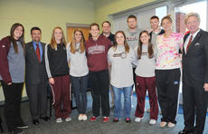 """<div class=""""source"""">Christina L. Kern</div><div class=""""image-desc"""">Cameron Mills, a member of UK's national championship basketball team, spoke at Campbellsville University to the basketball teams, first-year students and Bible study leaders.</div><div class=""""buy-pic""""></div>"""