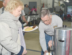 """<div class=""""source"""">Calen McKinney</div><div class=""""image-desc"""">Randy Bricken Sr. mans the coffee station during Saturday's breakfast.</div><div class=""""buy-pic""""><a href=""""/photo_select/44082"""">Buy this photo</a></div>"""