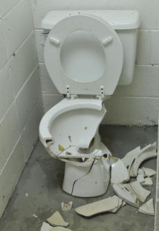 """<div class=""""source"""">Leslie Moore</div><div class=""""image-desc"""">This toilet in a women's restroom at Miller Park was blown up with firecrackers over the Fourth of July weekend.</div><div class=""""buy-pic""""><a href=""""/photo_select/45714"""">Buy this photo</a></div>"""