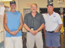 """<div class=""""source"""">Leslie Moore</div><div class=""""image-desc"""">Two mail carriers at Campbellsville Post Office were recognized recently for logging 1 million accident-free miles after 30 years of service. From left are rural carrier Shane Moore, postmaster David Lane and city carrier David Cassidy. Lane and Cassidy join current million milers Richard Schuhmann and Kenny Waters.</div><div class=""""buy-pic""""><a href=""""http://web2.lcni5.com/cgi-bin/c2newbuyphoto.cgi?pub=085&orig=Post%2BOffice%2BMillion%2BMilers%2BCOLOR.jpg"""" target=""""_new"""">Buy this photo</a></div>"""